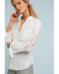 Rails - White Embroidered Shirt - Lyst