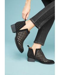 Jeffrey Campbell Bane Ankle Boots In Black Rubber Leather HJ_6969