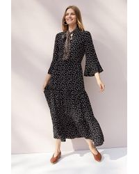 Second Female - Syrenia Printed Maxi Dress - Lyst