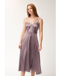 Christine Alcalay - Strappy Wrap Dress - Lyst