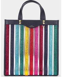 Anya Hindmarch - Multicoloured Multi Stripes Vinyl Tote - Lyst