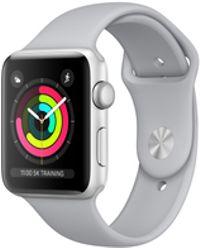 Apple - Watch Series 3 Gps, 42mm Silver Aluminum Case With Fog Sport Band - Lyst