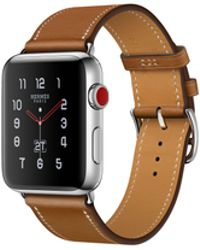 Apple - Watch Hermès Gps + Cellular 38mm Stainless Steel Case Silver With Fauve Barenia Leather Single Tour - Lyst