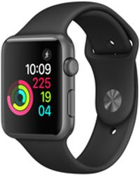 Apple - Watch Series 1, 38mm Space Grey Aluminium Case - Black Sport Band - Lyst