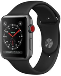 Apple - Watch Series 3 Gps + Cellular 38mm Aluminium Case Space Grey With Black Sport Band - Lyst