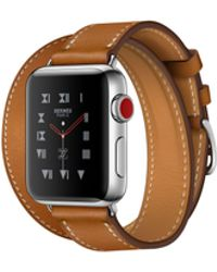 Apple - Watch Hermès Gps + Cellular, 38mm Stainless Steel Case With Fauve Barenia Leather Double Tour - Lyst