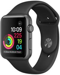 Apple - Watch Series 2, 38mm Space Grey Aluminium Case - Black Sport Band - Lyst