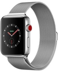 Apple - Watch Series 3 Gps + Cellular 38mm Stainless Steel Case Silver With Milanese Loop - Lyst