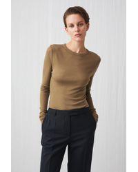 ARKET - Long-sleeved Merino Top - Lyst