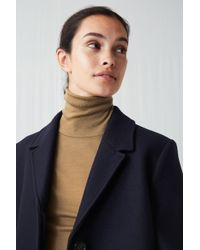 ARKET - Heavy Wool Coat - Lyst