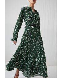 ARKET - Floral Crêpe Dress - Lyst