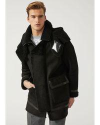 Emporio Armani - Leather Outerwear - Lyst