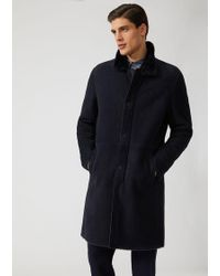 Emporio Armani - Shearling Lined Suede Coat - Lyst