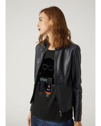 Emporio Armani | Leather Jacket | Lyst
