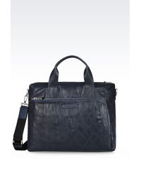 Emporio Armani - Briefcase Bag - Lyst