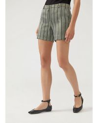 Emporio Armani - Striped Fitted Shorts - Lyst