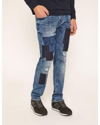 Armani Exchange - Slim-fit Ripped And Repaired Indigo Jean - Lyst