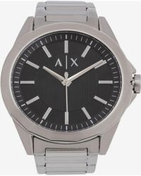 Armani Exchange - Black And Silver-toned Bracelet Watch - Lyst