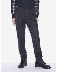 Armani Exchange - Plaid Dress Pant - Lyst