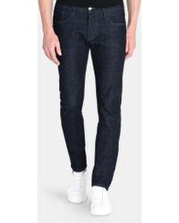 Armani Exchange - Dark Rinse Slim Fit Jeans - Lyst