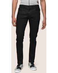Armani Exchange - Distressed Coated Skinny Jeans - Lyst