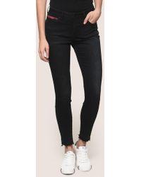 Armani Exchange - Frayed Hem Zip-pocket Jeans - Lyst