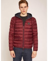 Armani Exchange - Classic Circle Logo Down-fill Hooded Puffer - Lyst