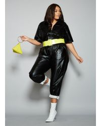 6d2b115935d Lyst - Ashley Stewart Plus Size The Donna Jumpsuit in Black