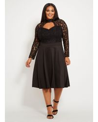 31324762ded37 Lyst - Ashley Stewart Plus Size The Roxanne Dress in Black