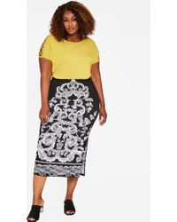Ashley Stewart - Plus Size Paisley Puff Print Maxi Skirt - Lyst