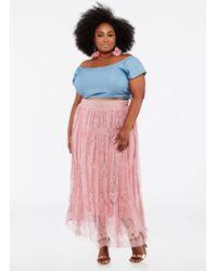 Ashley Stewart - Plus Size Paisley Lace Maxi Skirt - Lyst