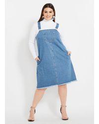 9bff399717519 Ashley Stewart - Plus Size Denim Overall Dress - Lyst