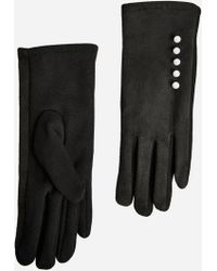 Ashley Stewart | Faux Suede Pearl Trim Gloves | Lyst