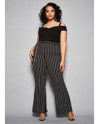 844392daf61b1 Lyst - Ashley Stewart Plus Size The Gina Jumpsuit in Black