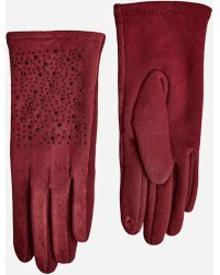Ashley Stewart | Faux Suede Rhinestone Gloves | Lyst