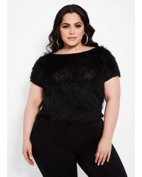 a2214deb8c4 Ashley Stewart - Plus Size Eyelash Knit Tee - Lyst