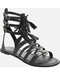 bc01458e71c1 Lyst - Ashley Stewart Lace-up Gladiator Sandals - Wide Width in Black