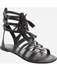 b6c4f3c1da3 Lyst - Ashley Stewart Studded Gladiator Sandal - Wide Calf