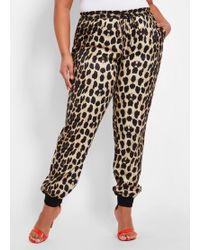23230819e39 Lyst - Michael Kors Animal-print Track Pants in Black