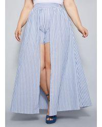 80b358a2af Ashley Stewart Plus Size Ruffle Hem Linen Skirt in Yellow - Lyst