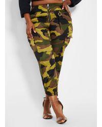 e77b6766255a5 Ashley Stewart - Plus Size Nylon Camo Print Skinny Pant - Lyst