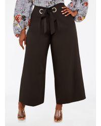 07ebde659e54e Ashley Stewart - Plus Size Grommet Waist Wide Leg Pant - Lyst