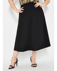 38ea25487 Calvin Klein Plus Size Pleated Faux Leather Skirt in Black - Lyst