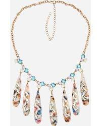 Ashley Stewart - Plus Size Multi Stone Statement Necklace - Lyst
