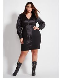 a1f7f651e35 Ashley Stewart - Plus Size La La Anthony Bomber Style Fitted Dress - Lyst