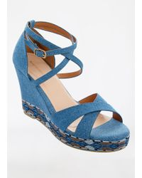Ashley Stewart - Strappy Wedge Sandal Wide Width - Lyst
