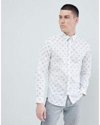 SELECTED - Slim Fit Shirt With All Over Dot Print - Lyst