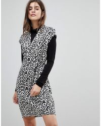 Liquorish - Cap Sleeve Animal Print Dress With D-ring And Attached Belt - Lyst