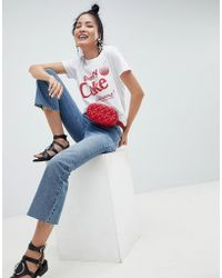 ASOS - Design T-shirt With Cherry Coke Print - Lyst