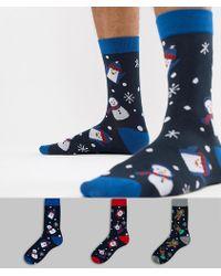 Jack & Jones - 3 Pack Christmas Socks In Gift Box - Lyst